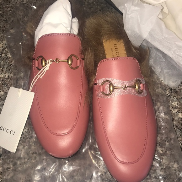 d508d9fac76 NWT GUCCI PRINCETON LEATHER MULES